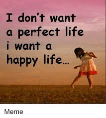 Happy Life Meme - i don t want a perfect life i want a happy life meme meme on me me