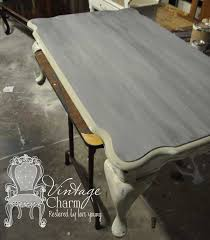 weathered gray coffee table vintage charm restored