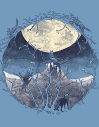 three wolf moon t shirt designs by artists worldwide