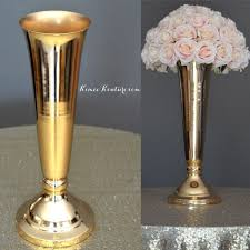 Metal Vases For Centerpieces by Gold Trumpet Vase Metal Trumpet Vase Flower Ball By Kimeekouture