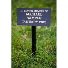 grave marker perspex grave marker