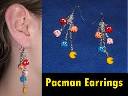 pacman earrings pacman earrings by forestgem on deviantart