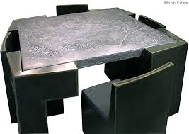 Furniture With Maps Of Imaginary Cities By Josep Cerda If Its - Dining table with hidden chairs