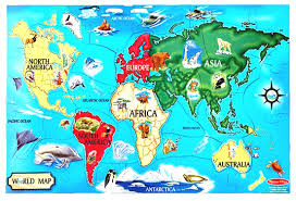 Antarctica World Map by Map Clipart With Pegs