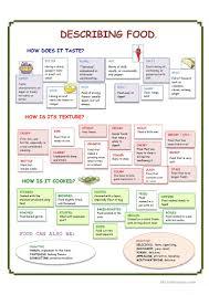 9 free esl food description worksheets
