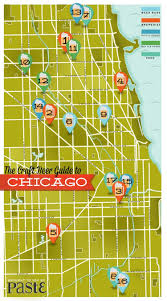 Map To Chicago by The Draft Beer Guide To Chicago Visual Ly