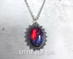 red opal necklace images Little gem girl mexican opal red blue dragon 39 s breath silver jpeg