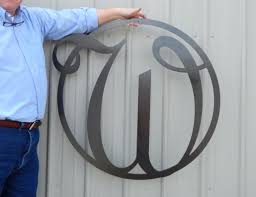 decorations 36 monogram front door circle last name initial door