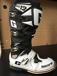 gaerne sg12 motocross boots gaerne sg12 black white size 10 for sale bazaar motocross