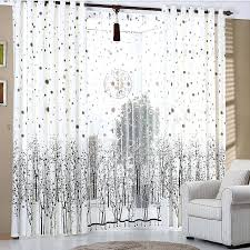 Navy Blue Curtains Ikea White Patterned Curtains Printed Tree Pattern In Coffee Color
