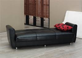 Madrid Leather Sofa by Harlem Black Leather Sofa Bed By Empire Furniture Usa