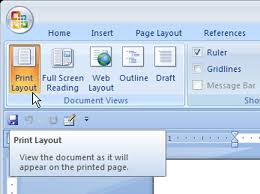 word layout pictures how to use print layout and draft view in word 2007 dummies
