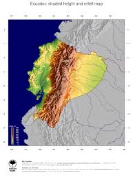 Topographical Map Of South America by Map Ecuador Ginkgomaps Continent South America Region Ecuador