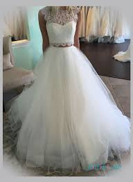 Wedding Skirt Two Pieces Wedding Dresses Separated Tulle Lace Wedding Skirts