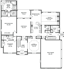 1 story open floor plans 1 story 5 bedroom house plans 5 bedroom craftsman home plan