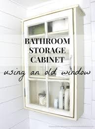 Bathroom Storage Wall Cabinet by Bathroom Storage Cabinet Using An Old Window Remodelaholic