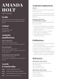 Academic Resume
