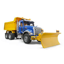 mack dump truck bruder mack granite dump truck with snow plow blade toy store