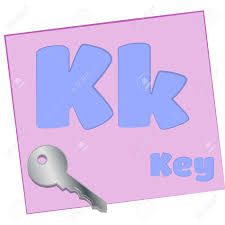 k key colorful alphabet letters with words starting with each