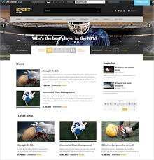templates for website free download in php sports website templates new sports themes every month