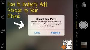 iphone cannot take photo one mind blowing tip to instantly add storage to your iphone