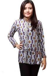 gambar model baju batik modern ッ 40 model baju batik kombinasi kain polos embos sifon brokat