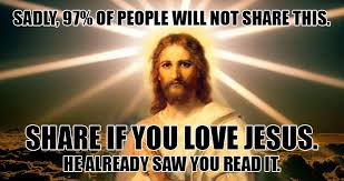 Thank You Jesus Meme - stone hearted man scrolls past jesus meme without sharing it