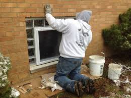 replacing apartments windows with glass blocks and egress windows