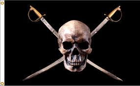 Blackbeards Flag Pirate Flag Jolly Rogers Nylon