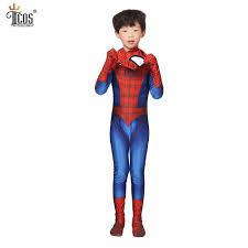 aliexpress com buy kids amazing spiderman cosplay costume