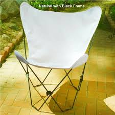 Butterfly Chair Cover Algoma Butterfly Chair Cover And Frame Black Powder Coated Steel