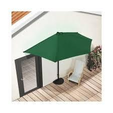 Half Umbrella Patio Green Half Parasol Garden Terrace Umbrella Sun Shade Shelter