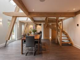 oak framed living area timber frame houses by carpenter oak ltd