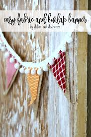 burlap thanksgiving banner easy fabric and burlap banner dukes and duchesses
