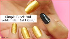 try this black and golden nail art design today youtube