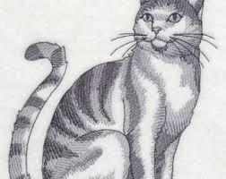 cat sketch etsy