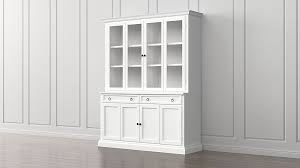 cameo 2 piece white glass door wall unit crate and barrel
