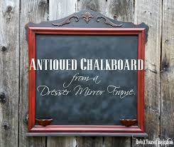 Decorative Chalkboard For Home by Mirror Frame Into Antiqued Chalkboard Guest Post Country Chic