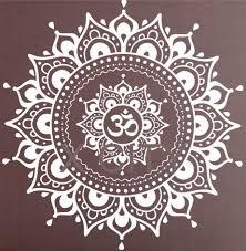 Wall Decals Mandala Ornament Indian by Mandala Pattern Big Wall Decal Vinyl Art Sticker Yoga Lotus