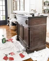 bathroom vanity makeover ideas weathered gray wood look vanity makeover bless u0027er house