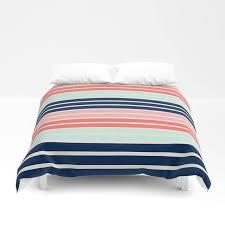coral navy bedding stripe duvet cover navy coral aqua beige