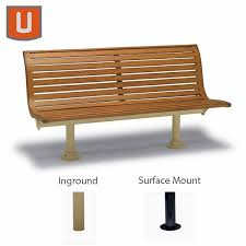 Commercial Outdoor Bench 6 Ft Outdoor Commercial Park Bench With Back Without Arms Burns