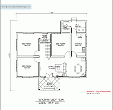 3 bhk house plan amazing 3 bhk single floor kerala house plan and elevation
