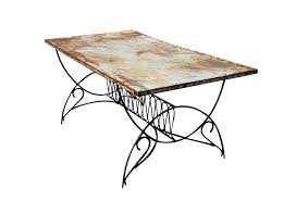 Vintage Metal Patio Furniture For Sale - incredible metal patina dining table omero home