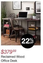 Overstock Office Desk Overstock Black Friday Reclaimed Wood Office Desk For 379 99