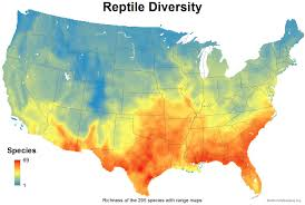 The United States And Canada Political Map by Mapping The Usa U0027s Reptile Diversity