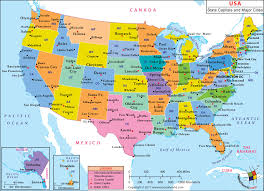 united states map with state names and major cities usa map by state and city united states map with state names and