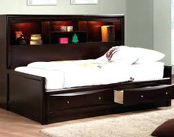 full size platform bed with storage black frame and headboard