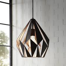 Bathroom Pendant Lighting Uk Eglo Black And Copper Cage Pendant Lounge And Hallway Lighting