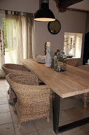 cuisine bois et metal table salle a manger metal et bois best of table cuisine style